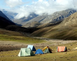 camping and hiking in Himalayan mountains